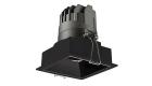 LETGO 8W 12W Anti Glare Recessed LED Down Lights Square Trim Black