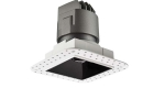 LETGO 8W 12W Anti Glare Recessed LED Down Lights Square Trimless Fixed